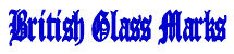 British Glass Marks logo